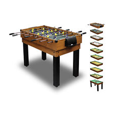 Multifunktionstisch Tischkicker Billard Multigame Tischfußball ~cqc 10 in 1