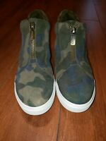 Blondo Glenda Wedge Sneaker Camouflage Waterproof suede women 9M
