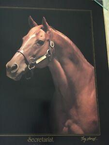 "Beautiful Secretariat ""Last Portrait"" Ltd Ed Signed & Numbered by Tony Leonard"