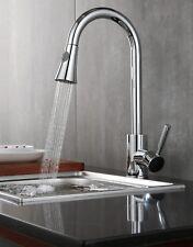 Moderno monoblocco cucina Mixer rubinetto con estrarre tubo cromato leva singola Spray
