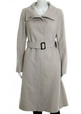 BURBERRY Beige Wool Long Sleeve Button Front Trench Style Coat SZ 6