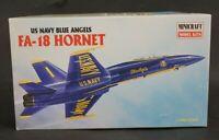 Vintage Academy Minicraft US Navy Blue Angels FA-18 Hornet 1:72 Scale Model Kit