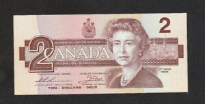2 DOLLARS AUNC CRISPY BANKNOTE FROM CANADA 1986 PICK-94