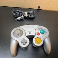 Official Genuine OEM Nintendo GameCube Controller Silver Platinum DOL-003 WORKS
