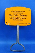 DELIA FARMER'S CO-OP STORE ALBERTA WALL MOUNT BROOM HOLDER