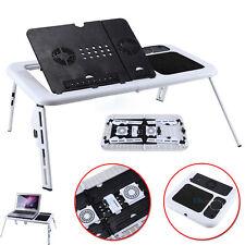 Verstellbar Laptoptisch Notebooktisch Betttisch Faltbar Notebook Ständer Lüfter