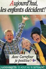 Publicité advertising 1988 Pret à porter vetements enfant Carrefour
