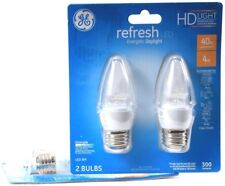 2 GE Refresh LED EnergeticDaylight Clear Finish 40w 300 Lumens Dimmable