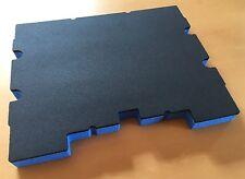 Koffereinlage Hart-Schaumstoff f. TSTAK Stanley, DeWalt, gr-blau, 30mm