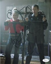 Billie Piper Christopher Eccleston Doctor Who Autographed 8x10 Photo JSA COA