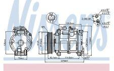 NISSENS Compresor, aire acondicionado CHRYSLER VOYAGER 89074
