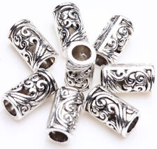 Lots Tibetan Silver Tube Charm Loose Spacer Bead Bracelet Jewelry Finding 8x5mm