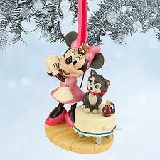 MINNIE MOUSE AND FIGARO CAT DISNEY STORE 2014 SKETCH BOOK ORNAMENT FREE SHIP NEW