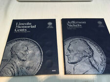 Whitman Official Coin Folders Set Lot of 2 Cents Pennies Nickels