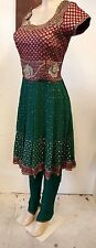 Bohemian 3 piece pants suit embroidered with rhinestone.NWT, M,Wedding,
