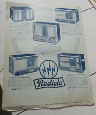 ancien prospectus publicitaire radio radiola