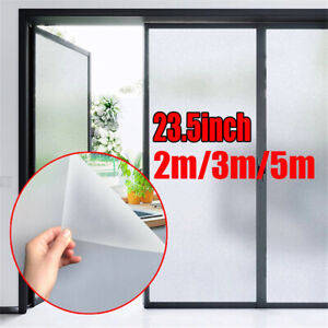 2/3/5 M Frosted Privacy Window Home Film Self Adhesive Glass Sticker Bathroom