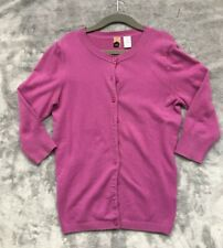 BP Button Down Purple Cardigan Sweater 3/4 Sleeves Size XS
