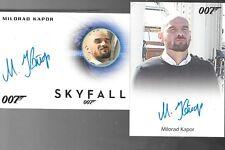 James Bond Archives Autograph cards Milorad Kapor FULL BLEED & A257 SKYFALL