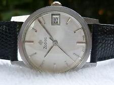 VINTAGE Zodiac Manual wind Stainless Steel 17 Jewels Calendar Swiss Wristwatch