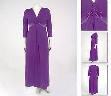 NEW!  Zaftique SATIN KNOT DRESS Purple 3Z 4Z / 24 28 / 3X 4X
