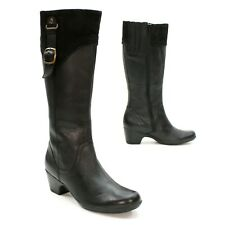 Clarks Ladies 9.5 M Ingalls Vicky Riding Black Leather Side Zip Knee Boot