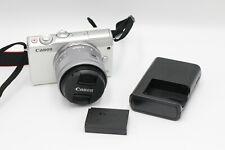 Canon EOS M100 24.2MP CMOS Full HD Mirrorless Digital Camer 15-45mm Lens-white