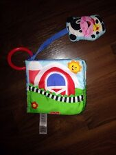 Fisher Price Jeux Max poussette Stoffbuch buggybuch vache prairie animaux hochet