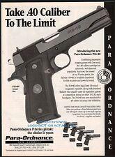 1996 PARA-ORDNANCE P16-40 Pistol PRINT AD with P12-45 P13-45 P14-45 P16-40