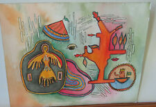 NATIVE AMERICAN INDIAN ABSTRACT WATER COLOR PAINTING