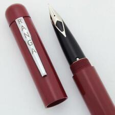PSP Ranga 4CS Fountain Pen - Sheaffer Imperial Steel Nib, Smooth Red Ebonite