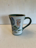 Louisville Stoneware Rooster Pattern Coffee Mug Cup Made in USA Holds 12 Ounces