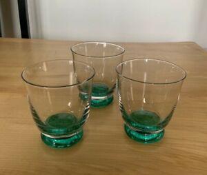 Denby Greenwich Regency Green Small Tumblers Glasses x 3