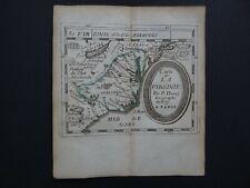 1676 DU VAL  Atlas map  VIRGINIA - La VIRGINIE - UNITED STATES AMERICA  - Duval