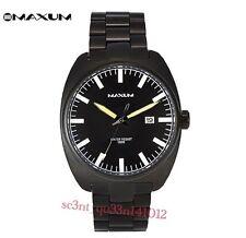 AUTHENTIC MAXUM MEN'S RUSKY WATCH X1312G2 BLACK ION STEEL RRP:$179 Brand New