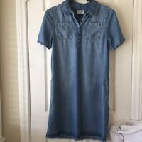 Universal Thread Womens Denim Dress  Short Sleeve Size S