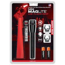 "Maglite 6.6"" AA Mini LED Flashlight Safety 97 Lumens Black SP2201G"