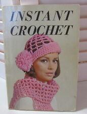 Instant Crochet by Needlecraft Institute Pattern Book 1971 Paperback