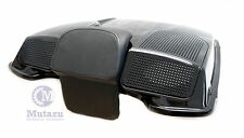Mutazu Vivid Black Dual 6x9 Speaker Lid for Harley Razor Chopped King Tour Pak