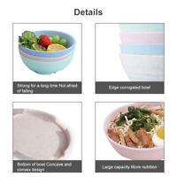 Lightweight &Unbreakable Cereal Bowls-Wheat Bowl-Dishwasher Microwave Safe set 4