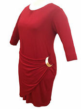 Plus Size 3/4 Sleeve Stretch, Bodycon Everyday Dresses for Women