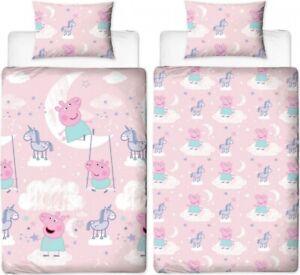 Official Peppa Pig Stardust Reversible Single Duvet Cover Bedding Set George