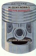 GENUINE McQUAY-NORRIS NELSON BOHNALITE PISTONS BROCHURE ADVERTISING GAS STATION