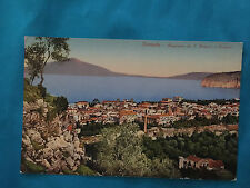 Sorrento Panorama Le S. Antonia a Vesivuo Antique Postcard Italy