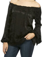 Michael Michael Kors Women's Satin Jacquard Off The Shoulder Blouse Size S...NWT