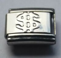 DOLLAR SIGN United States 9mm Italian Charm Fits Classic Bracelet Charms Link