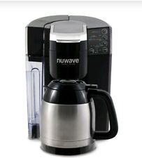 NuWave BruHub Single Serve/Full Pot Smart Coffee Maker Brewer Machine
