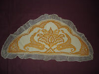 #530 Beautiful Vintage Filet Lace  Pillow Case  90cm/45 (35''/18'')
