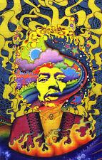 Signed Blotter Art - Jimi Hendrix Rainbow King by Jeff Hopp