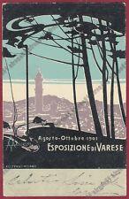 ALDO MAZZA 26 Illustratore ESPOSIZIONE di VARESE 1901 Cartolina viaggiata 1901